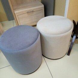 Пуфики - Пуф круглый серый и кремовый, 0
