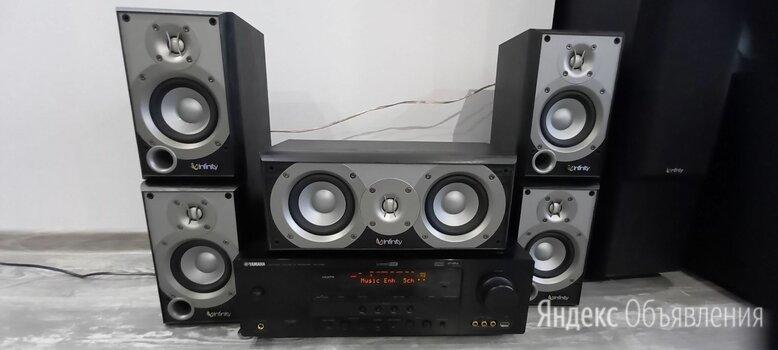 Комплект акустики от фирмы Harman Company Infinity HTC + ресивер Yamaha RX-V461 по цене 17000₽ - Комплекты акустики, фото 0