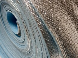 Изоляционные материалы - Фольгированный утеплитель 5 мм 30 м2 в рулоне, 0