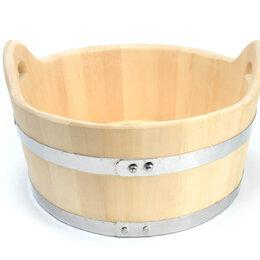 Аксессуары - Шайка деревянная для бани 15 л, 0
