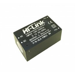 Кабели и разъемы - AC/DC конвертер HLK-PM03, 3.3В 3Вт, 0