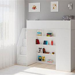 Кроватки - Кровать-чердак ЛегкоМаркет Легенда F602.3 Белая, 0