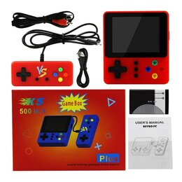 Игровые приставки - Игровая консоль GAME BOX 500in1 PLUS с джойстиком, 0