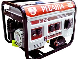 Электрогенераторы - Генератор бензиновый БГ 6500 Э Ресанта, 0