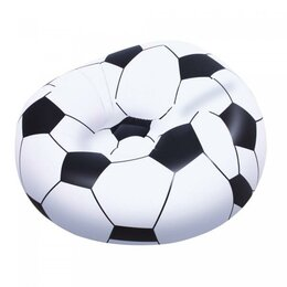 Походная мебель - кресло надувное bestway 75010 футбольный мяч, 114 х 112 х 66 см, 0