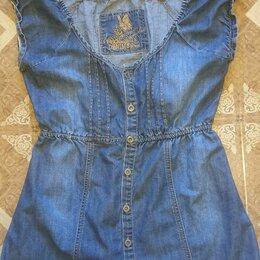 Блузки и кофточки - Туника жен джинсовая летняя, 0