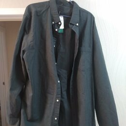 Рубашки - Черная рубашка H&M XL, 0