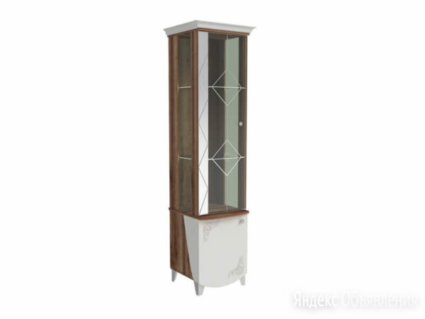 "Витрина левая ""Жозефина 6.1"" (Дуб Сакраменто/Белый) по цене 10500₽ - Шкафы, стенки, гарнитуры, фото 0"