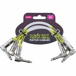 Наборы инструментов и оснастки - Ernie Ball 6051 набор кабелей инструментальных с угловыми джеками, 3 шт, длина 1, 0