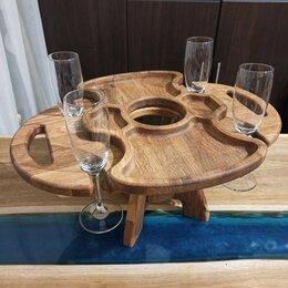 Подставки и держатели - Винный столик из дуба с менажницей (винница), 0
