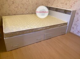 Кровати - Кровать Саломея белая с ящиками , 0