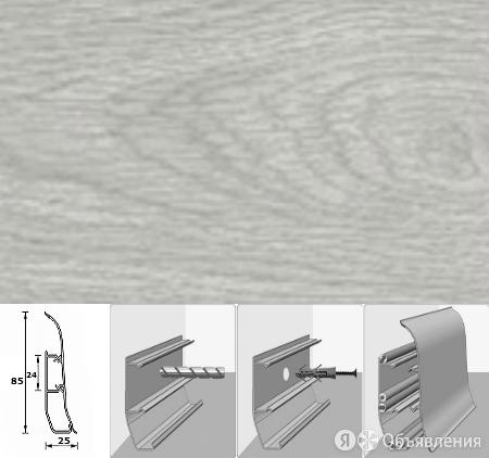 Напольный плинтус Идеал Элит Макси (пластиковый с кабель-каналом) 214 Дуб сер... по цене 54₽ - Перфорированный крепеж, фото 0
