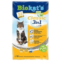 Наполнители для туалетов - Biokat's Classic 3in1 10 л Наполнитель комкующийся, 0