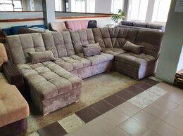 Диваны и кушетки - Большой диван п образный с закругленной спинкой, 0