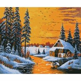 Рукоделие, поделки и товары для них - Картина по номерам Зимний закат (GX 27035, 40x50…, 0