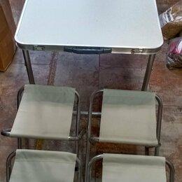 Походная мебель - Походный набор раскладной столик с 4 стульями, 0