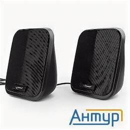 Комплекты акустики - Акустич. система 2.0 Gembird Spk-100, черный, 6 Вт, рег. громкости, Usb-питание, 0