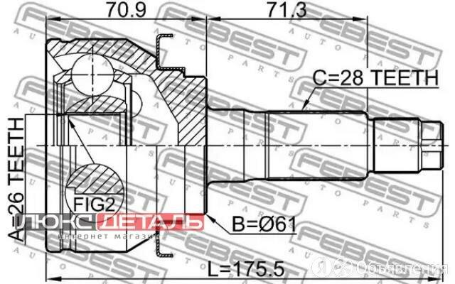 FEBEST 2110TKE 2110-TKE_ШРУС внутренний левый к-кт 27x50x24\ Toyota Camry 06-11  по цене 6734₽ - Подвеска и рулевое управление , фото 0