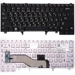 Клавиатуры - Клавиатура для ноутбука Dell Latitude E6320 E6420 E5420 черная без указателя , 0