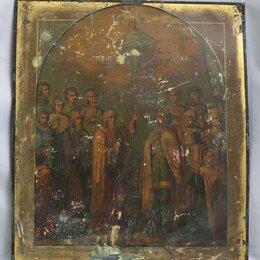 Иконы - Икона Собор Святых Александр Невский, Лазарь, Андрей Критский (008-162) , 0