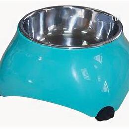Туалеты и аксессуары  - SUPERDESIGN миска меламиновая для собак высокая 160 мл аквамарин , 0