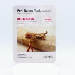 Маски - Тканевая маска для лица с экстрактом красного женьшеня Anskin Secriss Pure Natur, 0