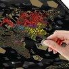 Карта мира со скретч-слоем «Шрифтовая» по цене 390₽ - Развивающие игрушки, фото 1