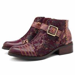 Ботинки - Женские ботиночки бохо с пряжкой на молнии, 0