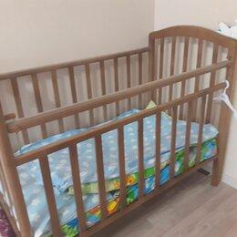 Кроватки - Кроватка детская с опускающейся спинкой, 0