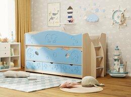 Кровати - Двухъярусная кровать Омега-10 (Голубой), 0