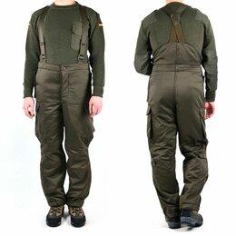Военные вещи - Утепленные брюки-полукомбинезон оригинал Bundesheer, 0