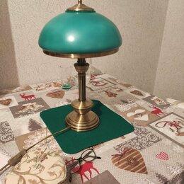 Настольные лампы и светильники - Лампа настольная зелёная, 0