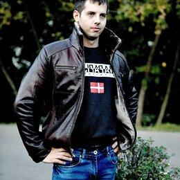 Костюмы - Куртка мужская кожзаменитель зима, 0