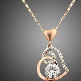 Кулоны и подвески - Женское ожерелье в виде двойного сердца, 0