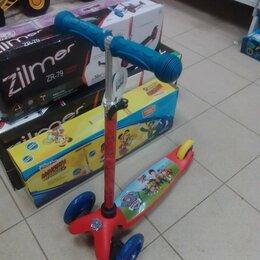 Самокаты - Самокат детский 3-колесный Щенячий патруль, 0