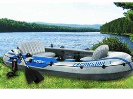 Надувные, разборные и гребные суда - Надувная четырёхместная лодка EXCURSION 4SET, 0