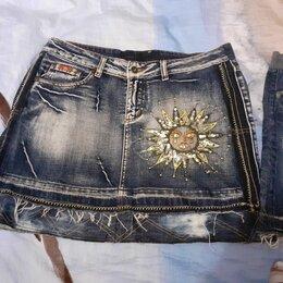 Юбки - Джинсовая юбка варенка, 0