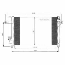 Отопление и кондиционирование  - Радиатор кондиционера HYUNDAI GETZ 1.1-1.3L…, 0