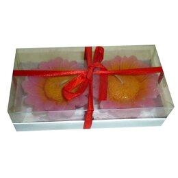 Декоративные свечи - Набор Свеча в виде цветка 6,5см (2 штуки) 1156, 0