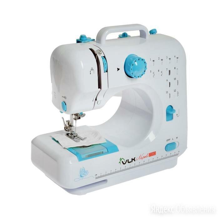 Швейная машина VLK Napoli 2350, 6 Вт, 12 операций, полуавтомат, бело-голубая по цене 6682₽ - Другое, фото 0