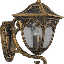 Уличное освещение - Светильник садово-парковый, 60W 230V E27 черное золото, IP44, PL4071, 0
