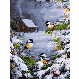 Рукоделие, поделки и товары для них - Картина по номерам Зимний лес (30х40 см), 0