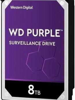 Внутренние жесткие диски - Жесткий диск WD HDD 8Тб Purple SATA WD82purz, 0