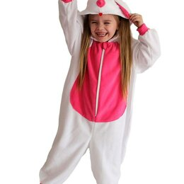 "Кигуруми - Пижама Кигуруми ""Зайка"" бело-розовый размеры от 5 до 7 лет арт.ING7 (7 лет), 0"