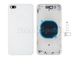 Корпусные детали - Корпус для iPhone 8 Plus european version (белый), 0