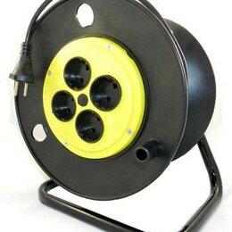 Источники бесперебойного питания, сетевые фильтры - Jett (ДЖЕТТ) сетевой удлинитель на пласт. катушке ПВС 2х0.75 4 розетка 25 м, ..., 0
