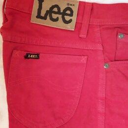 Джинсы - джинсы LEE красные размер 44. новые, 0