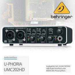Звуковые карты - BEHRINGER UMC202HD U-PHORIA Внешняя звуковая…, 0