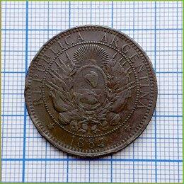 Монеты - 2 сентаво 1884 Республика Аргентина бронза, 0