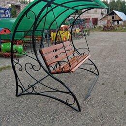 Садовые качели - Качели кованые с поликарбонатом, 0